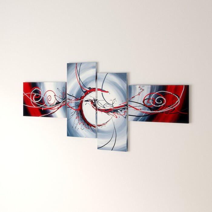 Tablou Saundra, 4 piese, 70 x 160 x 2 cm poza chilipirul-zilei.ro