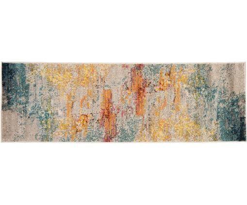 Traversa celest, cu model, din polipropilenă, 60 x 183 cm imagine chilipirul-zilei.ro