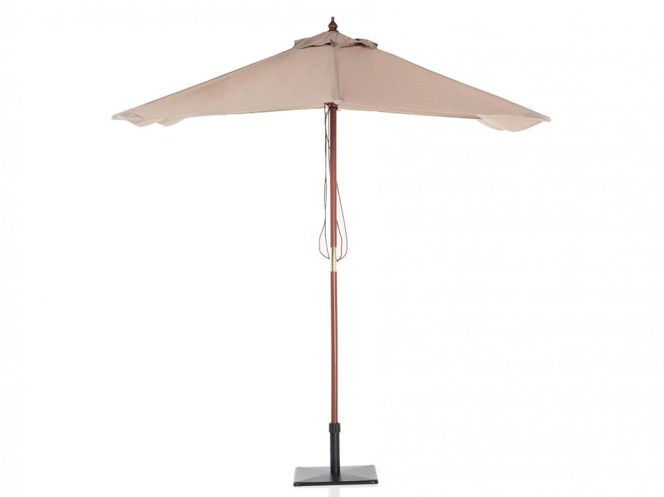Umbrela patrata 1.44 x 1.95 m FLAMENCO, mokka