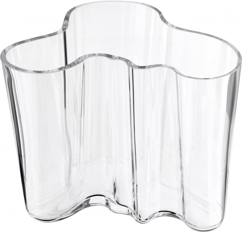Vaza Alvar Aalto, transparenta, 16 x 12 cm imagine 2021 chilipirul zilei