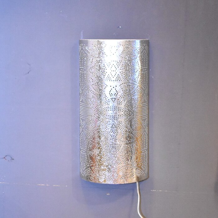 Aplica Censier, metal, argintie, 40 x 20 x 10 cm poza chilipirul-zilei.ro