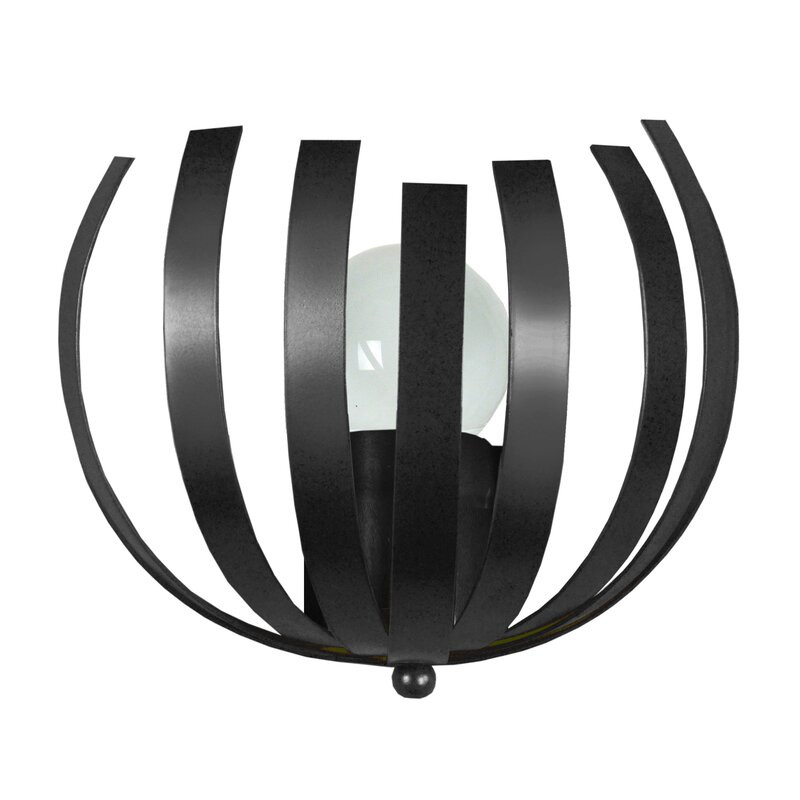 Aplica Jewel din metal, negru, 12 x 25 cm