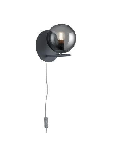 Aplica Pure II, metal, gri, 18 x 21 x 21 cm, 4w