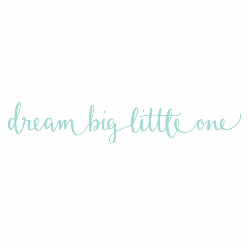 Autocolant de perete Dream Big Little One, 100 x 18 cm
