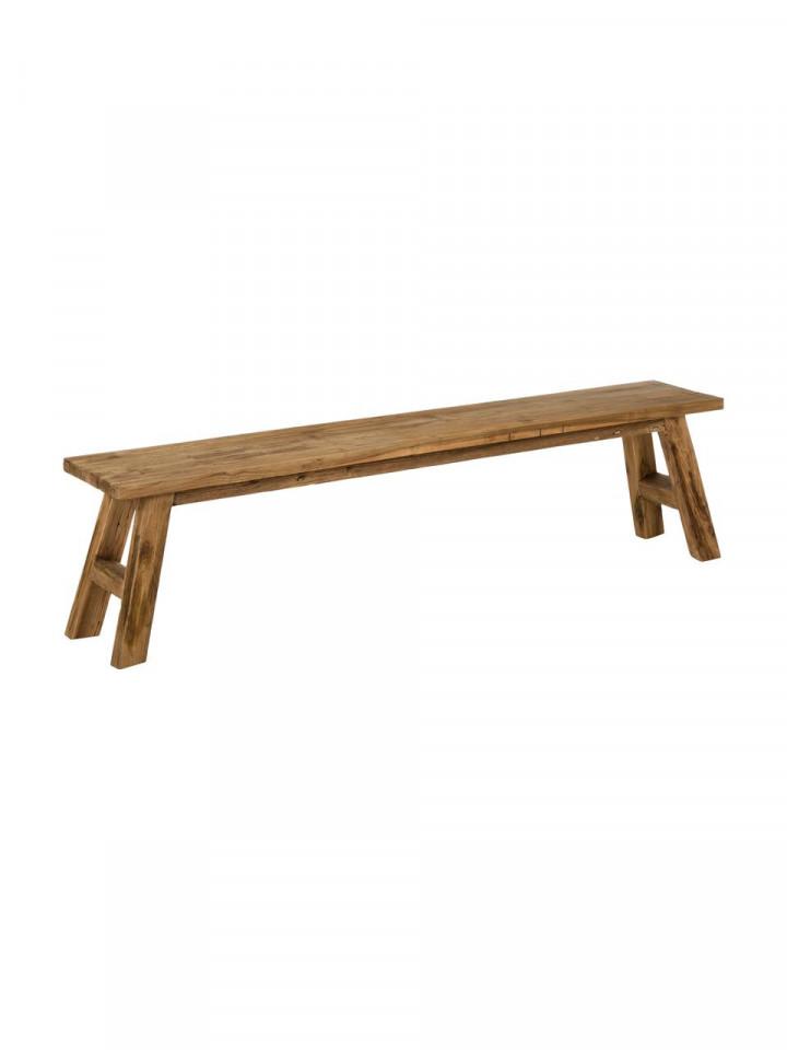 Banca din lemn de tec Lawas, 180 x 45 x 30 cm