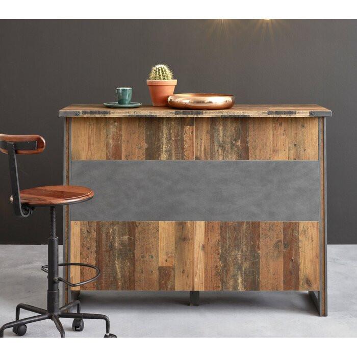 Bar Jaylyn, lemn, maro, 105 x 140 x 48 cm