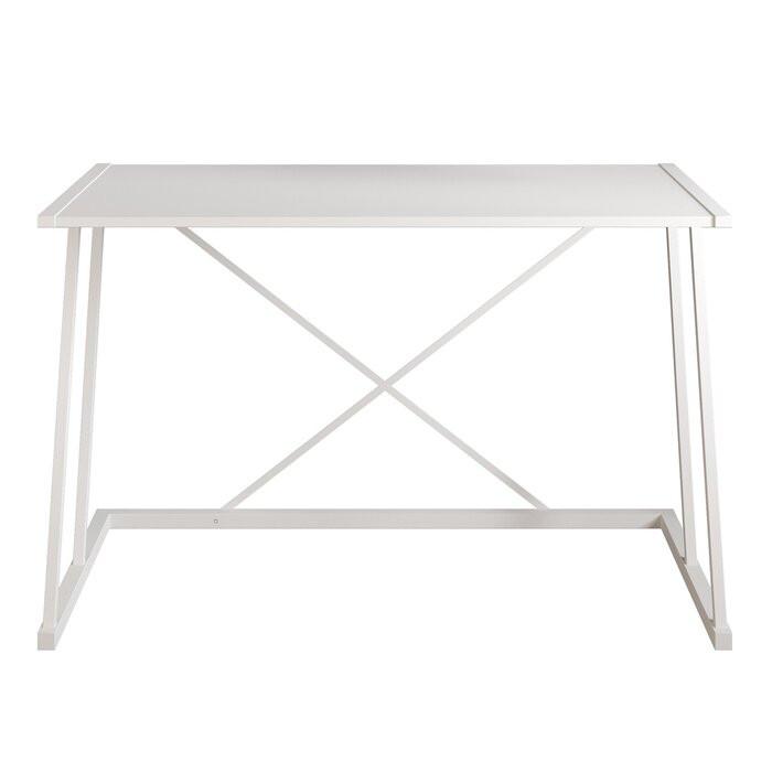 Birou Charie, metal, alb, 75 x 120 x 60 cm imagine chilipirul-zilei.ro