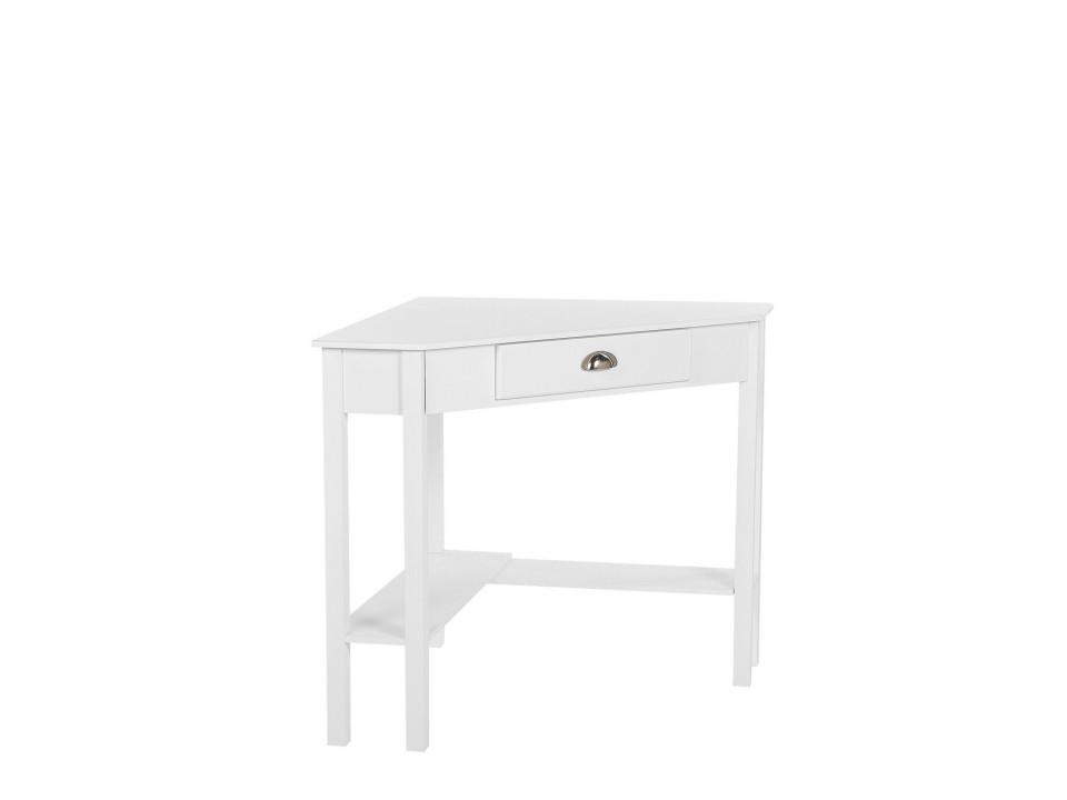 Birou de colt Lacey, alb, 75 x 78 x 67 cm chilipirul-zilei.ro