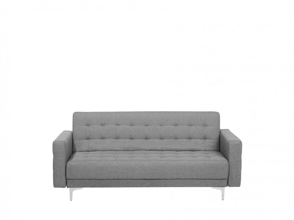 Canapea extensibilă cu 3 locuri ABERDEEN, gri, 60/120 x 160 x 87 cm poza chilipirul-zilei.ro