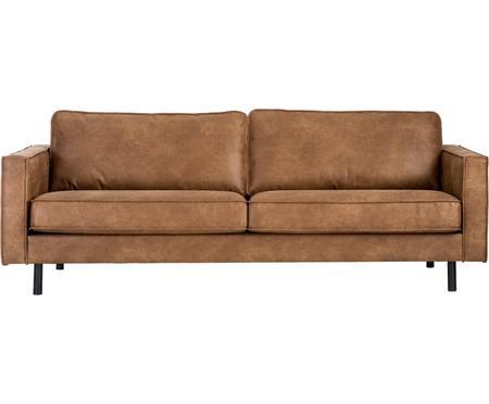 Canapea Hunter cu 3 locuri din piele, maro, 219 x 90 cm