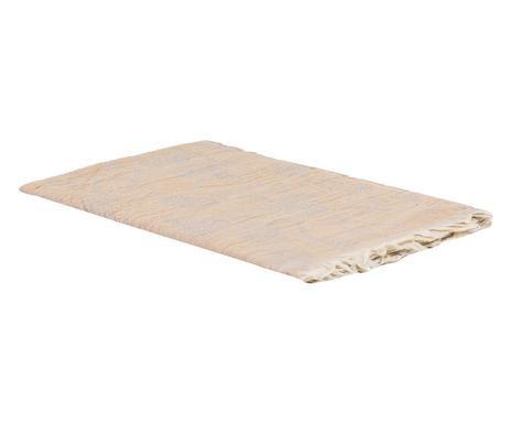 Cearșaf de pat cu frunze bej, 70x210 cm