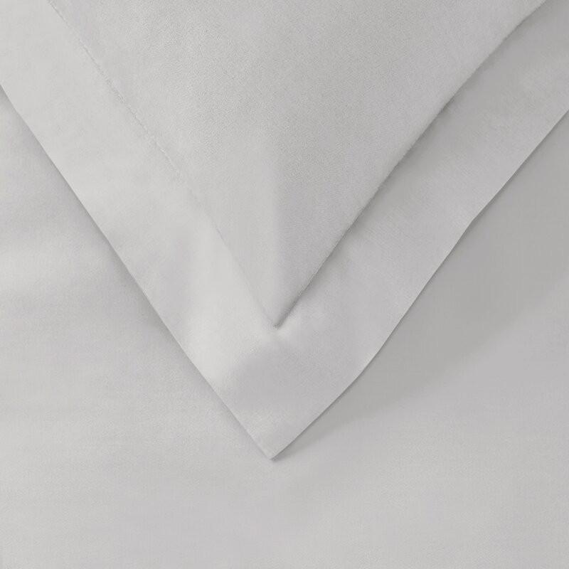Cearsaf de pat din bumbac, alb, 90 x 190 cm