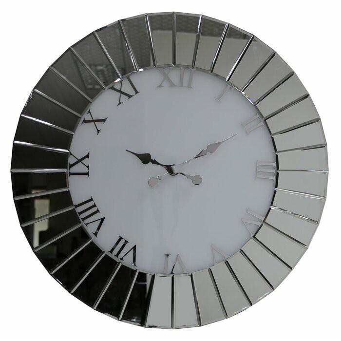 Ceas de perete Bennington XXL, sticla, 90 x 90 cm chilipirul-zilei.ro