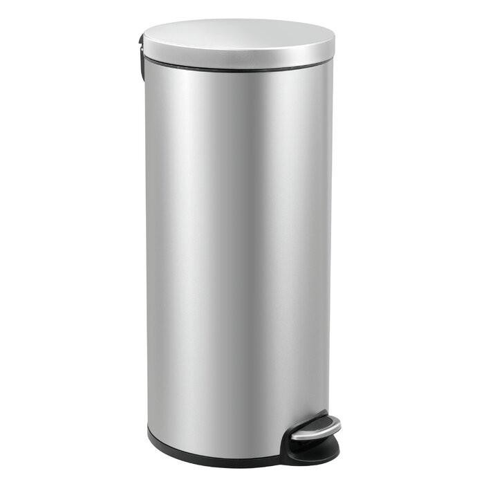 Cos de gunoi, otel, argintiu, 65 x 36,6 x 29,2 cm chilipirul-zilei.ro