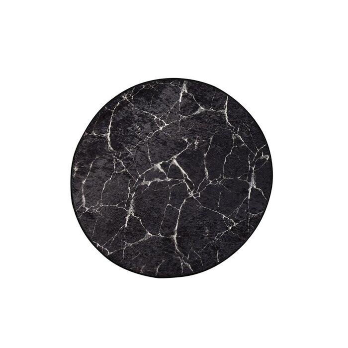 Covor Clifton, catifea, alb/negru, 100 cm imagine 2021 chilipirul zilei