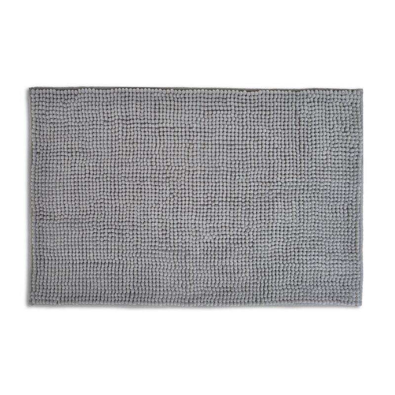 Covor de baie Hasson, gri, 80 x 50 cm