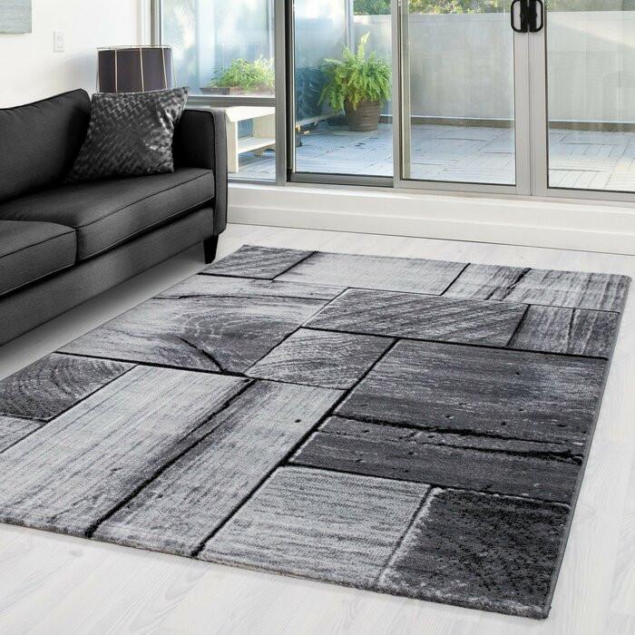 Covor Vikki, polipropilena, negru/gri, 80 x 150 cm imagine 2021 chilipirul zilei