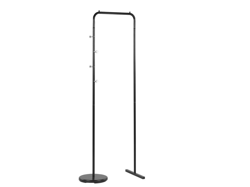 Cuier BENTON, metal, negru, 175 x 50 cm