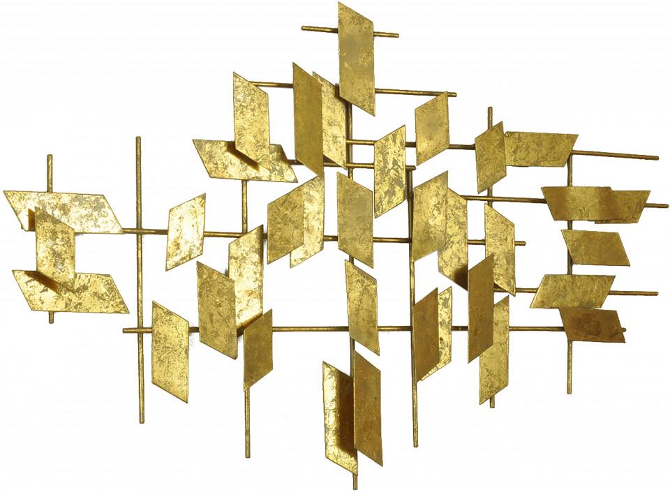 Decoratiune de perete metalica Tara, auriu