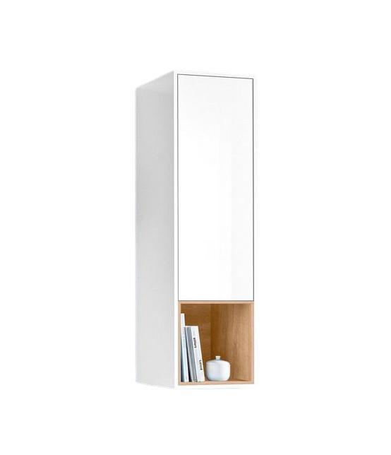 Dulapior suspendat Tecnos, alb, 39,4 x 42 x 136,8 cm