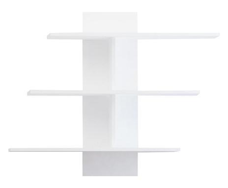Etajeră Muhu din PAL, alb, 111x20x90cm
