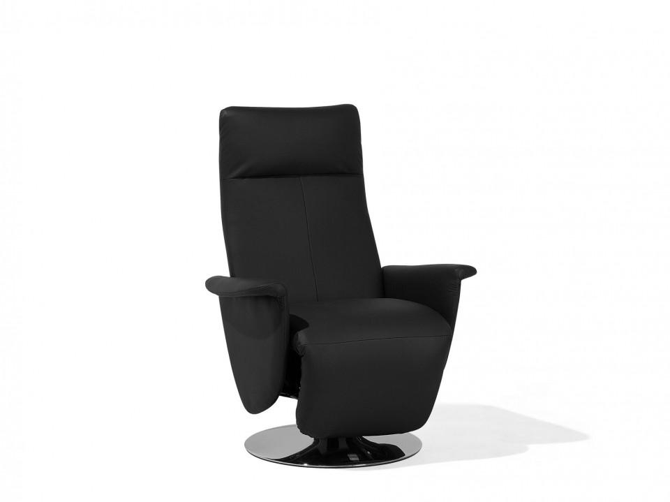 Fotoliu recliner Prime, piele ecologica, negru, 82 x 49 x 110 cm image0