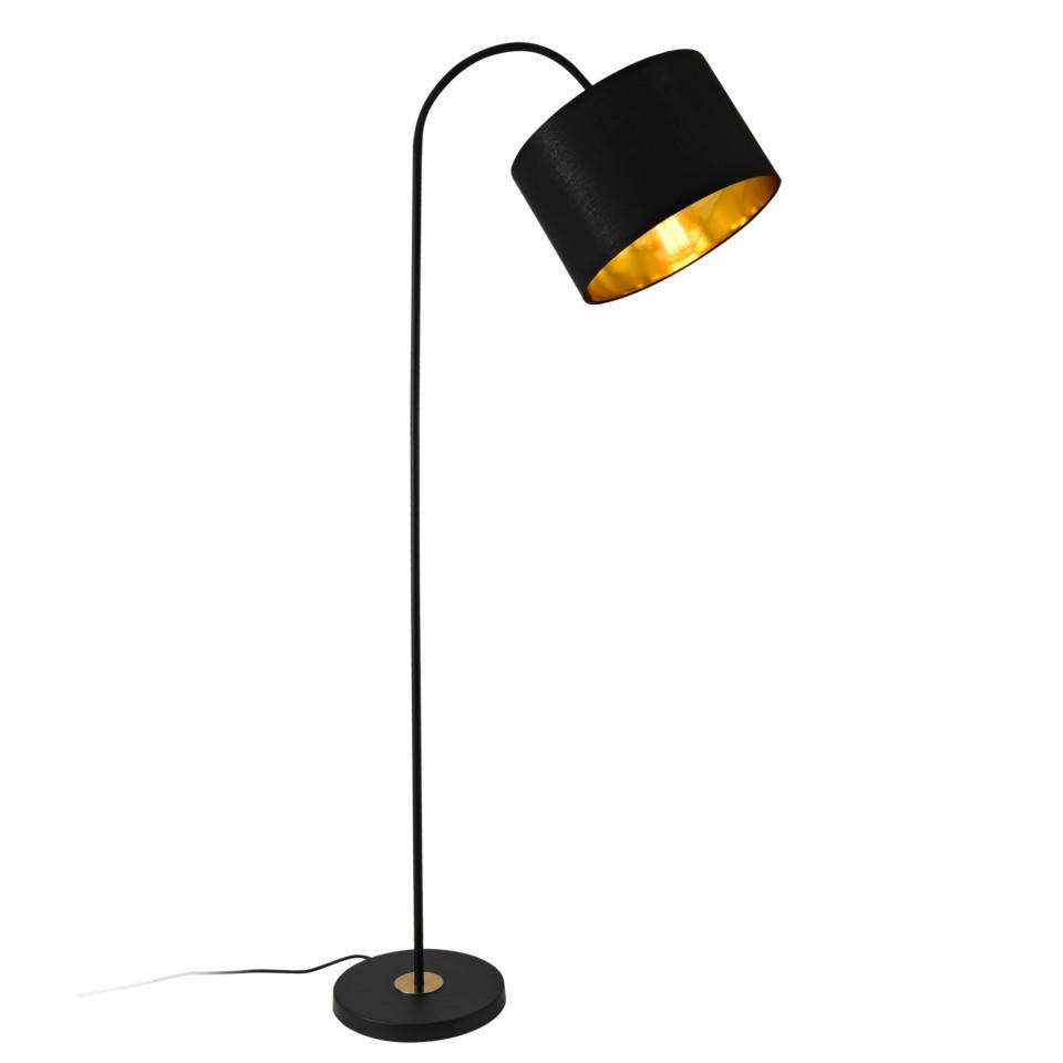 Lampadar Alick din metal, negru, 173cm H image0