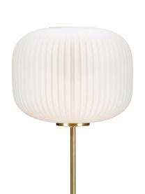 Lampadar din metal, alb, 25 x 50 cm