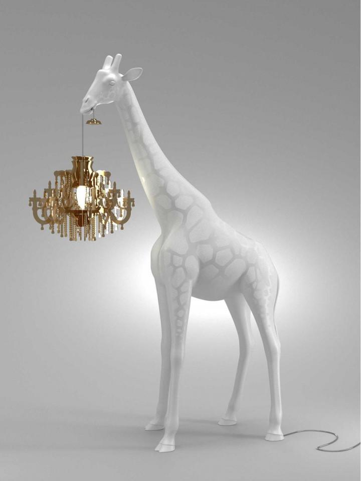 Lampadar Giraffe, alb, 100 x 60 cm