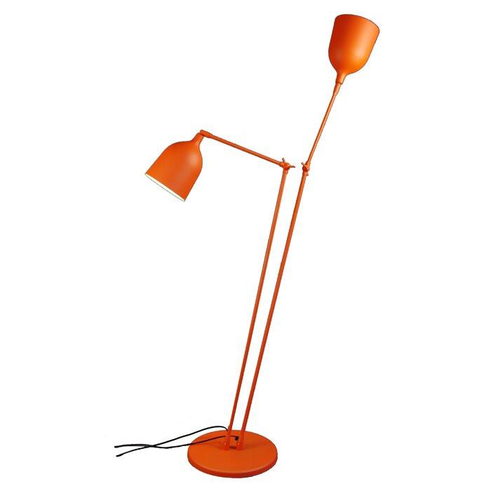 Lampadar Palmerston, metal, portocaliu, 162 x 75 x 33,5 cm poza chilipirul-zilei.ro