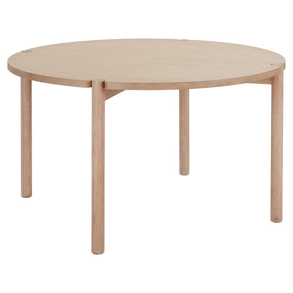 Masa rotunda Andas Niss, lemn de frasin, 135 x 75 cm imagine 2021 chilipirul zilei