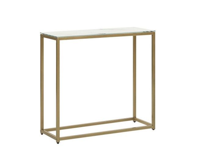 Masa tip consola DELANO, metal/sticla, 76 x 80 x 30 cm poza chilipirul-zilei.ro