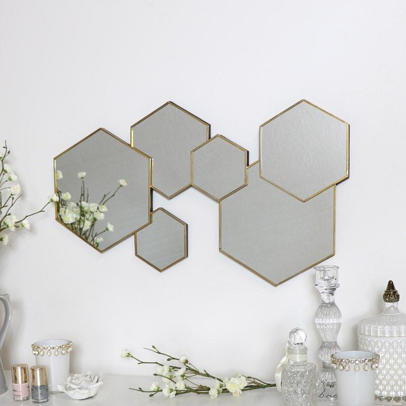 Oglinda Egger, auriu, 55 x 32 poza chilipirul-zilei.ro