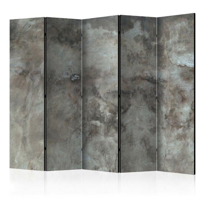 Paravan Celesse, lemn masiv, gri, 172 x 225 x 3 cm