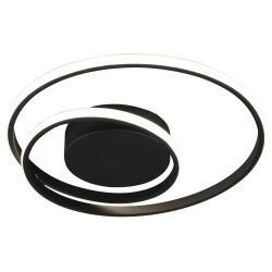 Plafoniera Ranier, metal/plastic, neagra, 7 x 39 cm, 22w