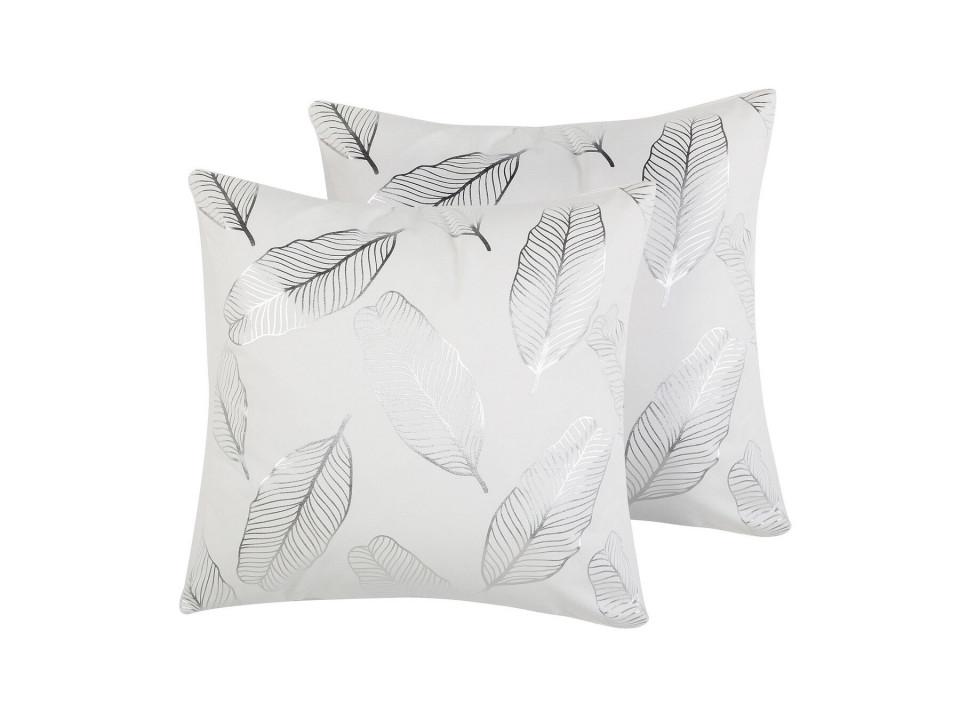 Set de 2 perne Freesia, argintiu/alb, 45 x 45 x 12 cm image0