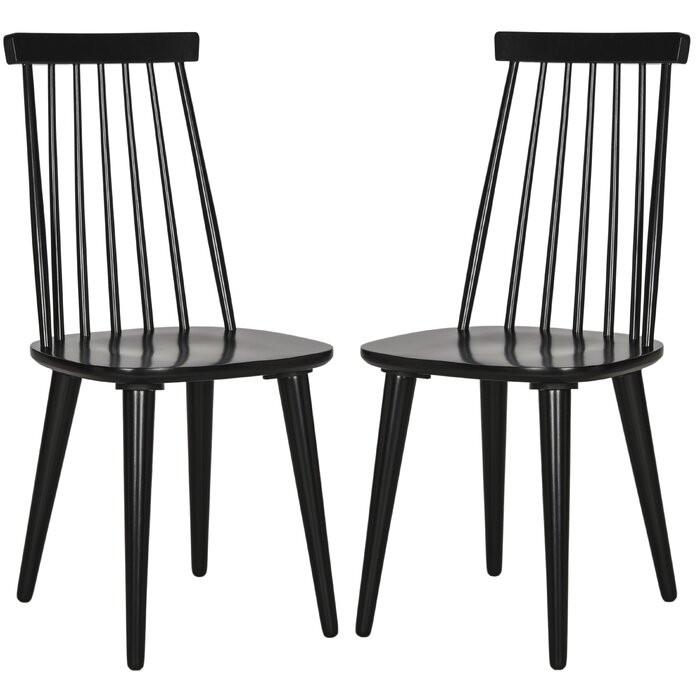 Set de 2 scaune Arikara, negre, 91,44 x 49 x 52 cm chilipirul-zilei 2021