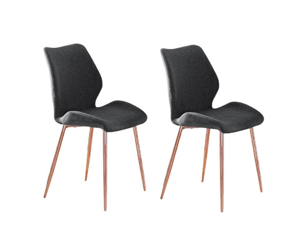 Set de 2 scaune Ayla, antracit