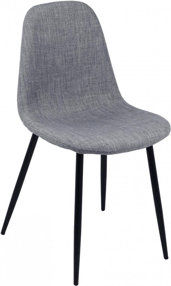 Set de 2 scaune Karla, gri/negre, 44 x 86 x 53 cm imagine 2021 chilipirul zilei