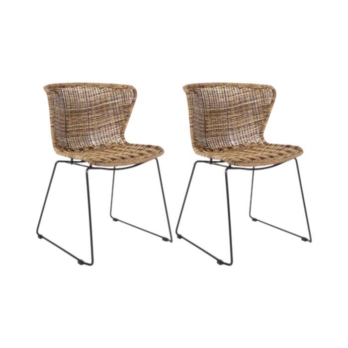 Set de 2 scaune Schwerin, 77,5 x 54,5 x 54 cm 2021 chilipirul-zilei.ro