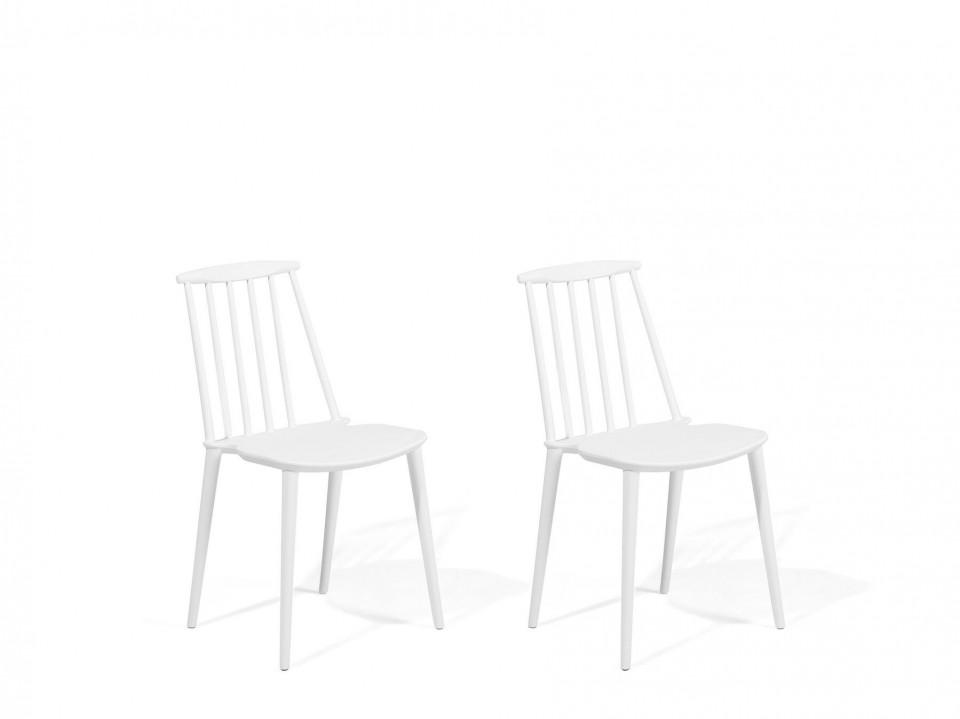 Set de 2 scaune Ventnor, albe, 49 x 41 x 83 cm chilipirul-zilei.ro