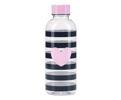 Sticlă de apă Me Strip cu inimă roz 2021 chilipirul-zilei.ro