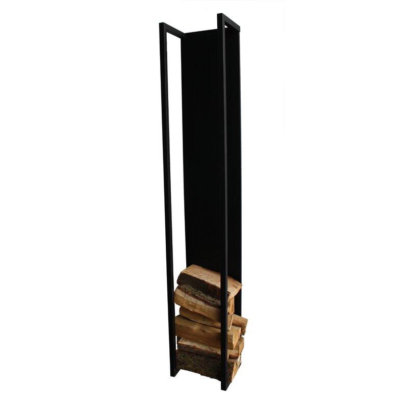 Suport pentru lemne, metal, negru, 167cm H x 29cm W x 23,5cm D imagine chilipirul-zilei.ro