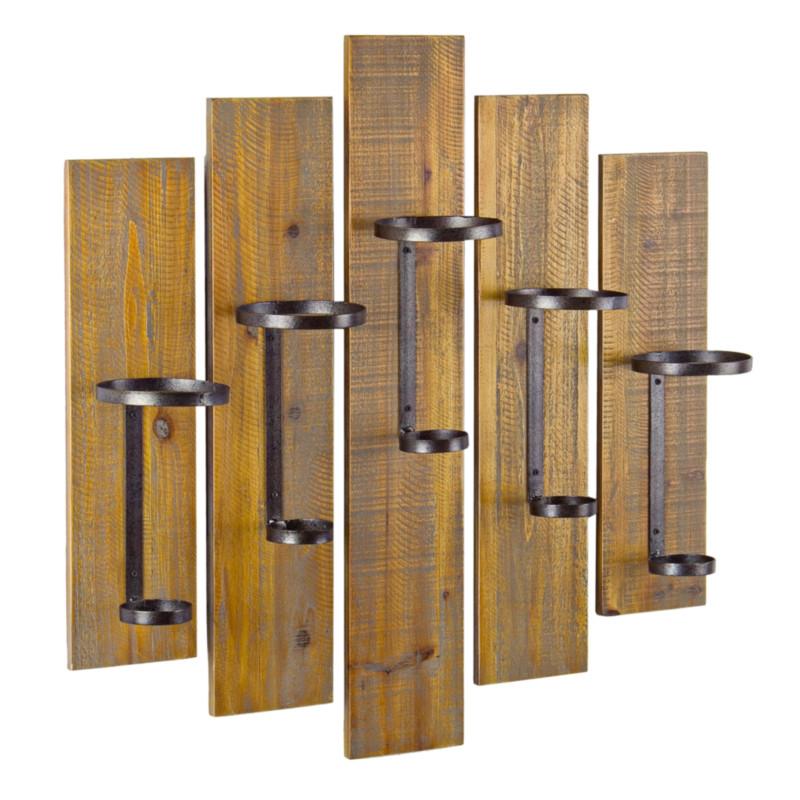 Suport pentru sticle CRU, lemn, maro imagine 2021 chilipirul zilei