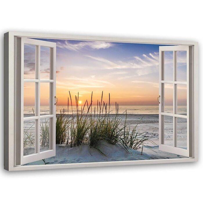 """Tablou """"Window to the Beach"""", 80 x 120 x 3 cm chilipirul-zilei 2021"""