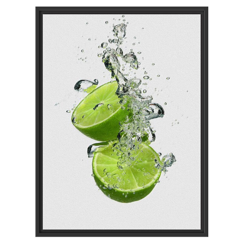 Tablou Delicious Green Limes in Water, 60 x 80 cm