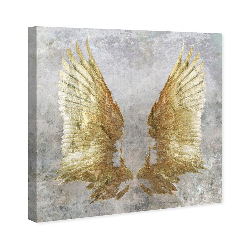 Tablou Remedy 'My Golden Wings' , 41 x 41 cm poza chilipirul-zilei.ro