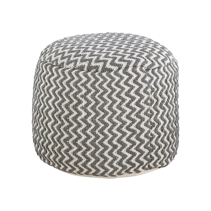 Taburet Frahm, bumbac, gri, 40 x 50 x 50 cm
