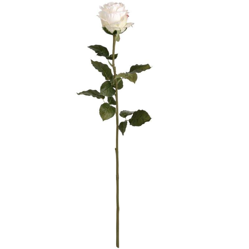 Trandafir artificial, alb