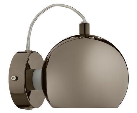 Aplica de perete Ball metal, maro, 1 bec, diametru 15 cm 2021 chilipirul-zilei.ro